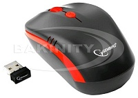 Мышь Gembird MUSW-350  Wireless Black-Red